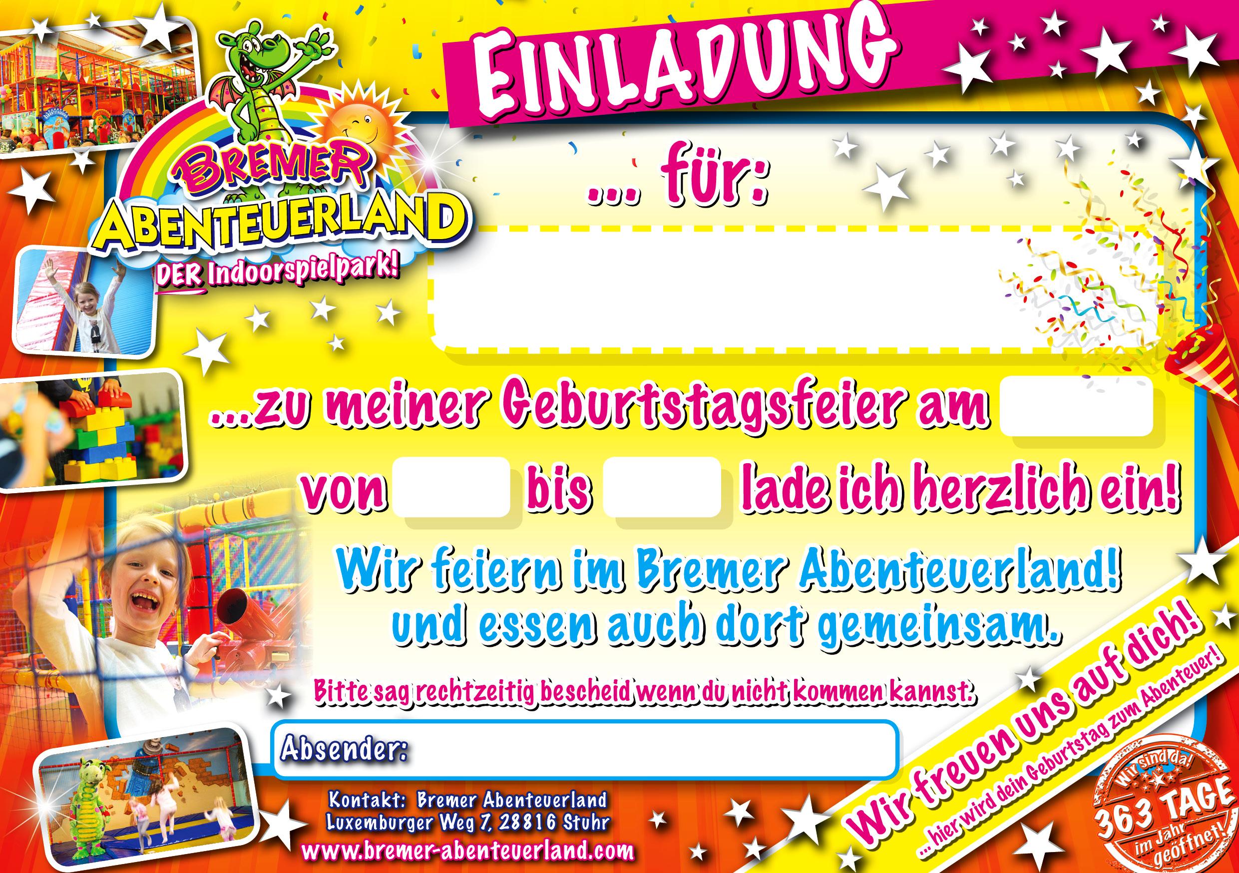 Abenteuerland Geburtstagseinladung | Einladung Zum Geburtstag · U003eu003eu003e Hier ...